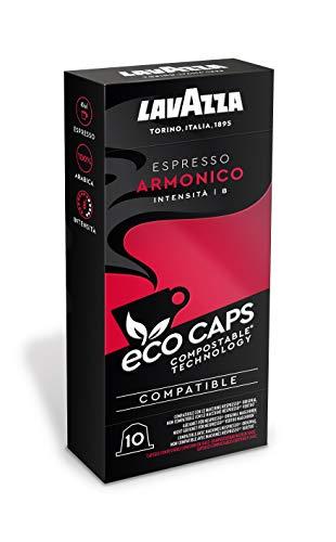 Lavazza 50 Nespresso kompatible Eco Caps Kapseln, kompostierbar, Kaffee Espresso Armonico, 5 x 10er Pack (265 g)