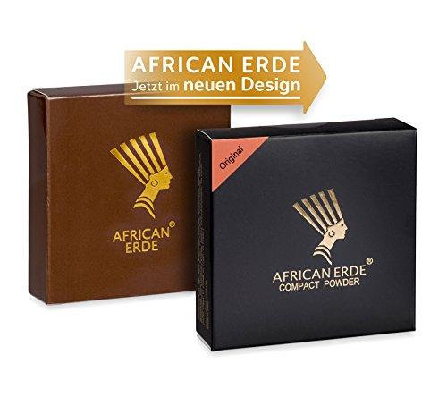 Bronzing Puder - African Erde Compact Powder'Original' - ohne Glitter, Mineralpuder, Spiegel Case