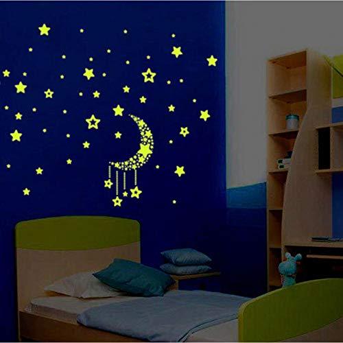 JSGJQQTT Adesivo murale Creative CuteKids Camera da Letto Fluorescente Glow in The Dark Stars Wall Stickers Camera da Letto Decorazione Strumenti # 5