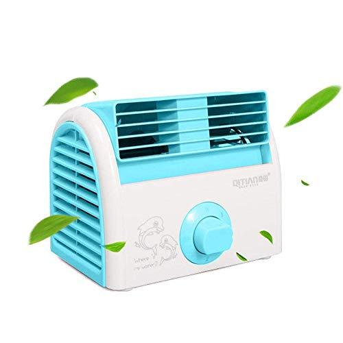 Bblank Mini Klimaanlage Ventilator USB Klimagerät Mini Luftkühler Haushaltsgeräte Mobile Klimageräte Luftbefeuchter und Luftreiniger Tragbarer Tischventilator,Blue
