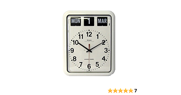 Nrs Large Analogue Calendar Wall Clock Amazon Co Uk Health Personal Care