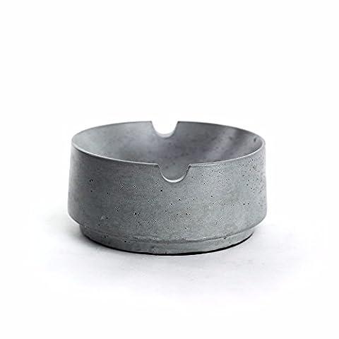 Cement Ashtray Storage Box Tray Plate Set Material Concrete Creative Ashtray, E