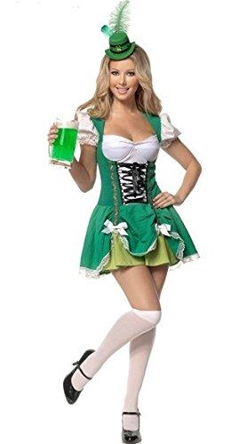 hen Prinzessin Kleid Uniformen Restaurant Uniformen Dienstmädchen-Outfit Mädchen Oktoberfest Kellnerin Uniformen (Halloween-bier-mädchen)