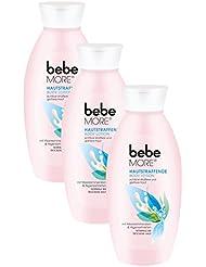 bebe More Hautstraffende Body Lotion / Feuchtigkeitsspendende Körperlotion für normale bis trockene Haut / 3 x 400ml
