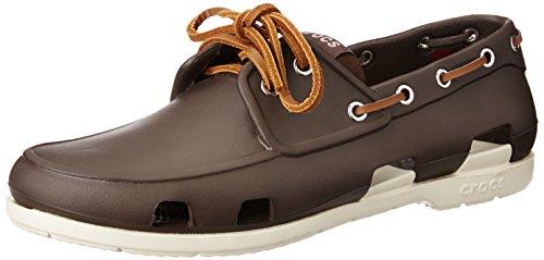 Crocs Beach Line Boat Shoe Men, Herren Bootsschuhe, Braun (Espresso/Stucco 26L), 43/44 EU Braun (Espresso/Stucco)