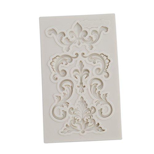ODN Barock Blumenrebe Form Silikon Formen 3D Silikon Backform für Kuchen Fondant Dekorieren