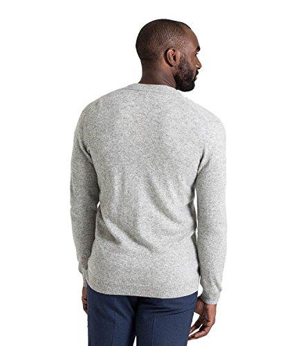 WoolOvers Strickjacke mit V-Ausschnitt aus Merinowolle-Kaschmirwolle für Herren Flannel