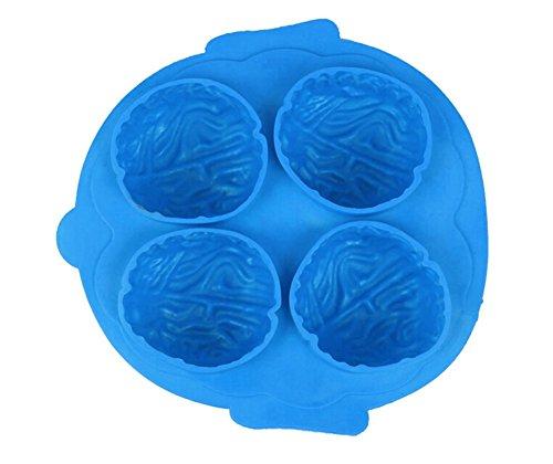 LAMEIDA Schimmel Ice macht Form Eis Form Maker Ice Form Kugel Ice Cube Tabletts 4Grid Eis Form ICE Tabletts Silikon 16* 15,5* 3,5cm 1PCS blau (Schale Fisch)