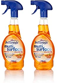 2 X Astonish Multi Surface Cleaner Trigger Spray 750Ml With Orange Oil