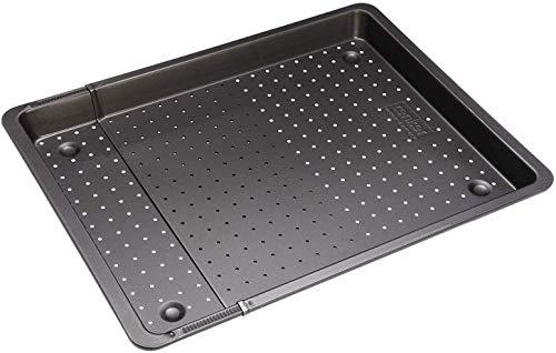 Zenker Backblech perforiert (52-37 cm x 33 cm), Ofenblech, ausziehbar & verstellbar, Lochblech, universal geeignet für Baguette, Kuchen, Pizza & Plätzchen