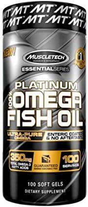MuscleTech Essential Series Platinum Fish Oil - 100 Capsules