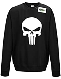 Postees Punish Superhero Inspired Skull Sweatshirt