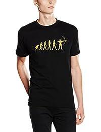 Shirtzshop T-shirt Gold Edition Bogen Bogenschießen Bogenschütze Evolution