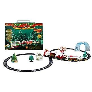 per Trenes con Carreteras Eléctrcos de Navidad Juguetes de Trenes Eléctricos con música Estilo de Fiesta de Navidad Juguetes Educativos Niños Infantiles