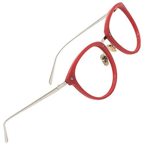 TIJN Monturas de gafas Mujeres y Hombres Anteojos Redondos Vintage Gafas Sin Receta Anteojos ópticos