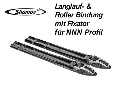 Nordic Ski, Roller Ski Binding with Fixator for NNN Profile