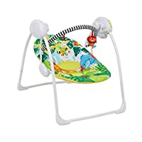Deluxe Foldable Baby Bouncer Safari Animals First Swing Soothing Music and Toys 0M+ 693