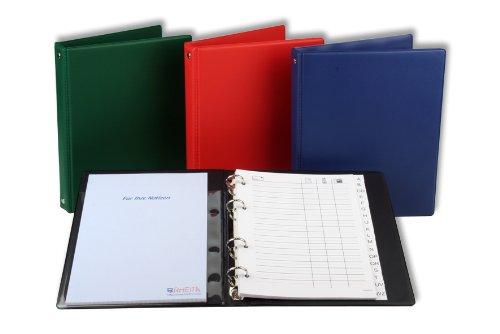 Quaderno ad anelli rubrica DIN A5/telefonico con ABC registro e blocco per appunti/Nero