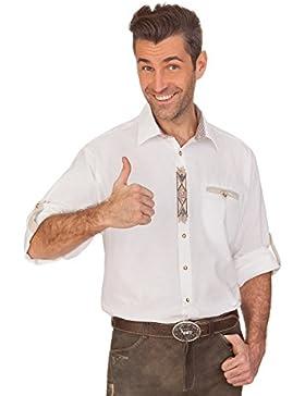 Trachtenhemd mit Langem Arm - Oswald - Weiß