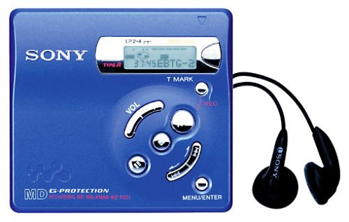 Sony MZ-R501/L tragbarer MiniDisc-Rekorder blau