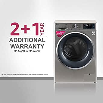 LG 9 kg Inverter Wi-Fi Fully-Automatic Front Loading Washing Machine (FHT1409SWS, STS-VCM, Inbuilt Heater)