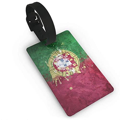 Leder-Armband für Gepäck, Motiv: Flagge der Portugal