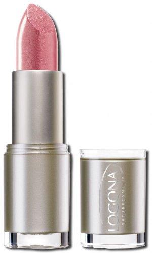 LOGONA Naturkosmetik Lipstick No. 08 Moonlight Rose, Natural Make-up, Lippenstift, zart pflegend und sanft schützend, enthält Anti-Aging Wirkstoffe, Bio-Extrakte, 4.2 g - Pflegende Rose