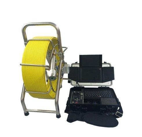 mabelstar Monitor de 8Pulgadas, autonivelación cámara Cabeza, 8LED de Alta luz, 60m Cable Alcantarillado Tubería inspección cámara
