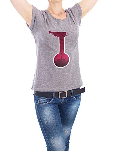 """Design T-Shirt Frauen Earth Positive """"Bad Break - Fanart - pink"""" - stylisches Shirt Abstrakt Film Geometrie von HDMI2K Grau"""