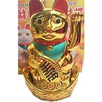 12 lingote de oro chino Lucky Gatos nueva venta al por mayor 14 cm de alto