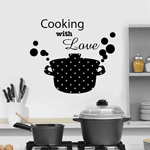 Yaoxingfu Cocina Cacerola Sartén Cocina con Amor Cita Pegatinas de Pared Vinilo Arte...