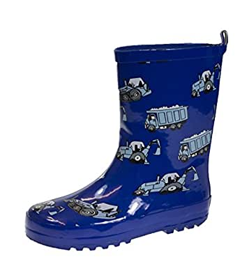 Lora Dora Boys 3D Wellington Boots Waterproof Rain Snow Wellies Rubber Mid Calf Kids Size UK 6-2