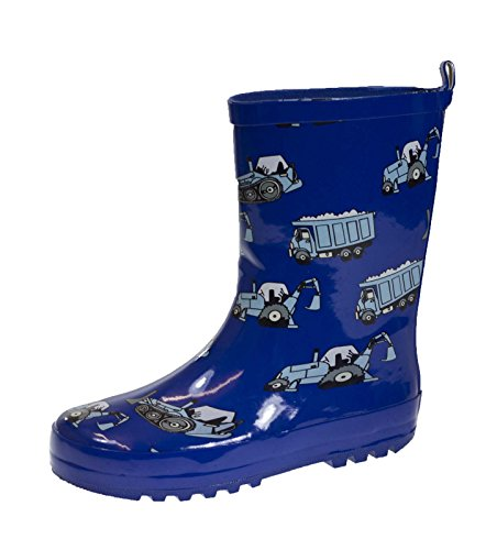 Lora Dora Boys 3D Wellington Boots Waterproof Rain Snow Wellies Rubber Mid Calf Kids Size uk 6-2