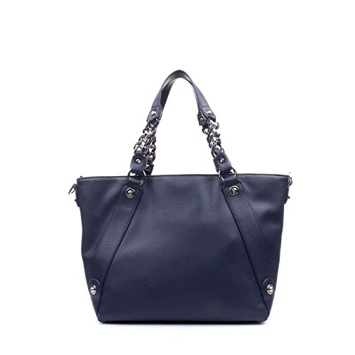 BORSA SPALLA LIUJO NERO shopping con zip lavandalarg 36cm alt 30 cm alt manico 20 cm blau, blau