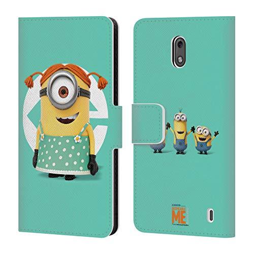 Head Case Designs Offizielle Despicable Me Stuart Maedchen Kostuem Minions Leder Brieftaschen Huelle kompatibel mit Nokia 2 (Kostüm Mädchen 2 Minion Me Despicable)