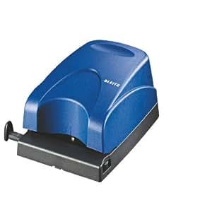 Leitz 50300035 elektrischer locher 1 5 mm mit anschlagschiene blau b robedarf - Locher im garten ...