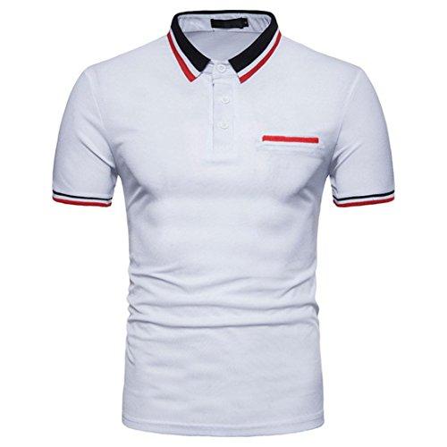 Cool Plus Polo (Btruely Herren Poloshirt Kurzarm T-Shirt Sommer Basic Tee Männer Polo Shirt Slim Fit Top Oversize Kurzarmshirt Männer Polohemden Plus Size Kurzarmhemden)