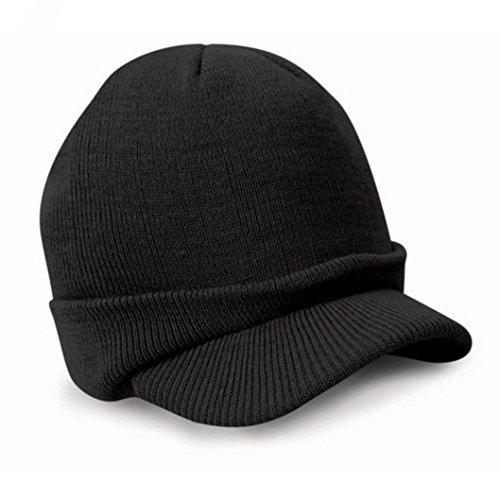 hutwinwintomr-beanie-hut-warme-wolle-winter-mens-damen-kadett-ski-kappe-schwarz