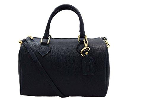 Handtasche Leder A.131 blau (Chanel Handtaschen Leder)