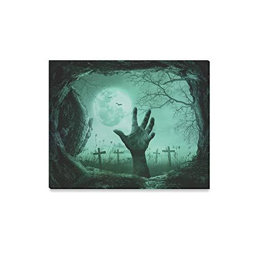 lerei Halloween Konzept Scary Hand Cave Stein Drucke Auf Leinwand Das Bild Landschaft Bilder Öl Für Zuhause Moderne Dekoration Druck Dekor Für Wohnzimmer ()