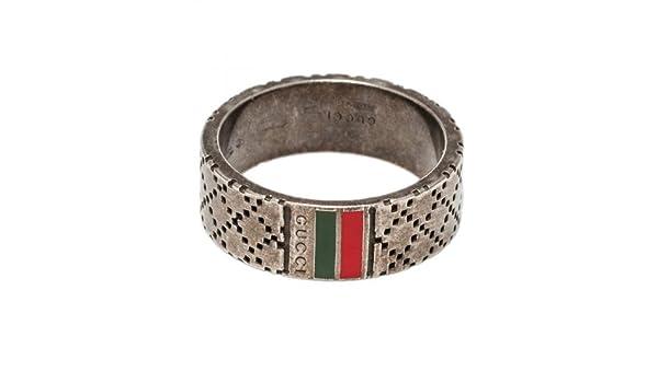 c5e79789e1ec0 Gucci diamantissima Ring in Green Enamel with Burnished Silver Size 25   Amazon.co.uk  Jewellery