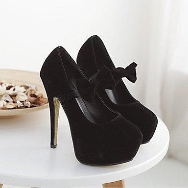 Moda Donna Sandali Sexy donna tacchi Primavera / Estate / Autunno tacchi / matrimonio abito / / Casual Stiletto Heel Bowknot , rosso Black
