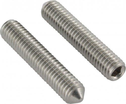 Gewindestift mit Spitze, mit Innensechskant, M8 x 30mm, DIN 914 / ISO 4027, 10er Pack