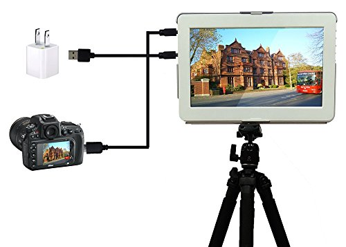 GeChic 1303H VESA 100 supplies MountCase Cables All in one by means of  1 4 tripod screw 21m HDMI USB cables for moveable Monitor taking pictures Camera Video Laptop cellphone Game HDMI VGA MiniDisplay Mac dwelling hifi Video Accessories
