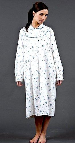 Wincy Winceyette 100%  coton brossé Chemise de nuit pour femme Motif Floral Coloris et tailles Turquoise - Turquoise