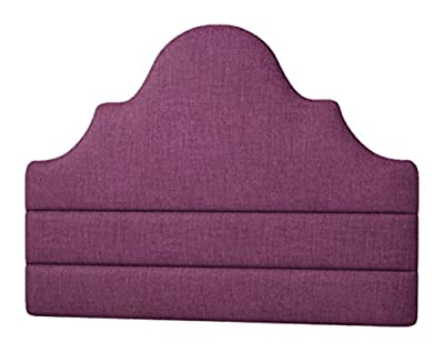 Happy Beds Everest Lined Headboard, Fabric, Purple Cotton, 4 ft 6-Inch, Double - inexpensive UK light shop.