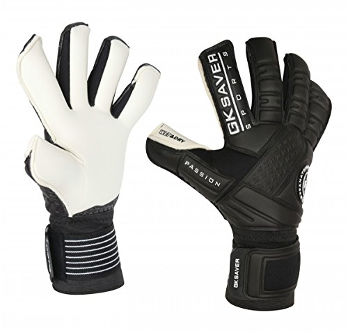 GK Saver Football Soccer Goalkeeper Gloves Professional Passion Ps10 Wet Dry  Size 9  NO Fingersave NO Personalization