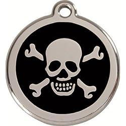 Médaille pour moyen chien Red Dingo modèle PIRATE - 11 couleurs disponibles - GRAVURE OFFERTE