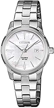Citizen Women White Dial Stainless Steel Band Watch - EU6070-51D