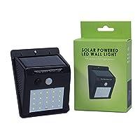 Nanotek Solar Powered LED Wall Light, Motion PIR Sensor and CDS Night Sensor - 20 LED